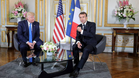 "White House: Trump is looking with Macron to bypass Iran's ""roof"" of low-enriched uranium stockpiles"