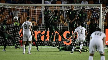 algeria defeated nigeria with a killer goal and the african cup final