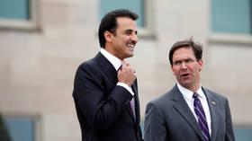 ترامب لأمير قطر: الحمد لله هذه كانت أموالكم وليس أموالنا