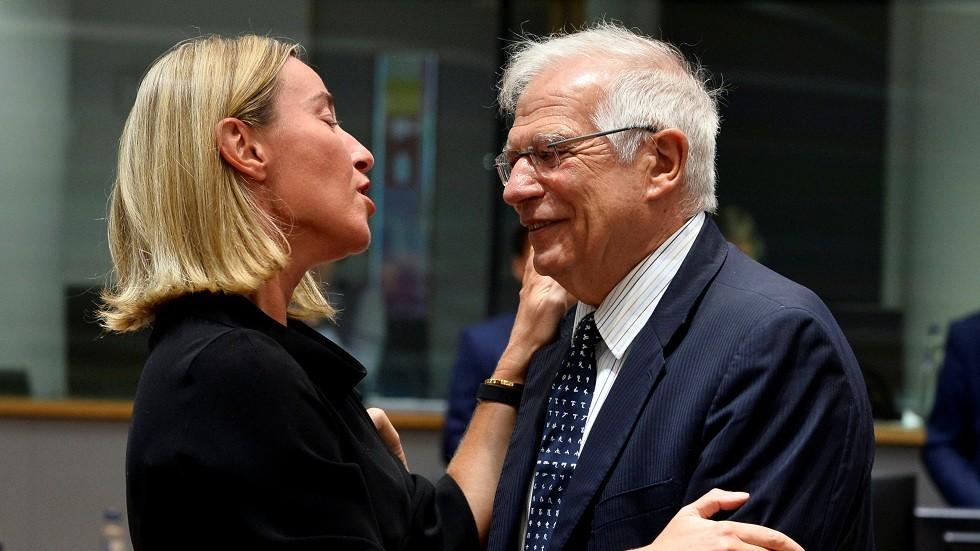 جوزيب بوريل مع فيديريكا موغيريني