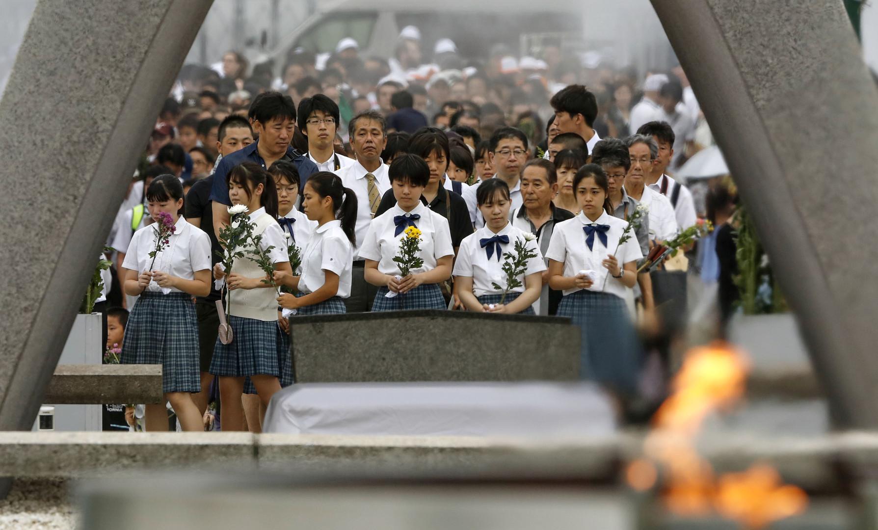نصب تذكاري في هيروشيما بذكرى إلقاء القنبلة الذرية
