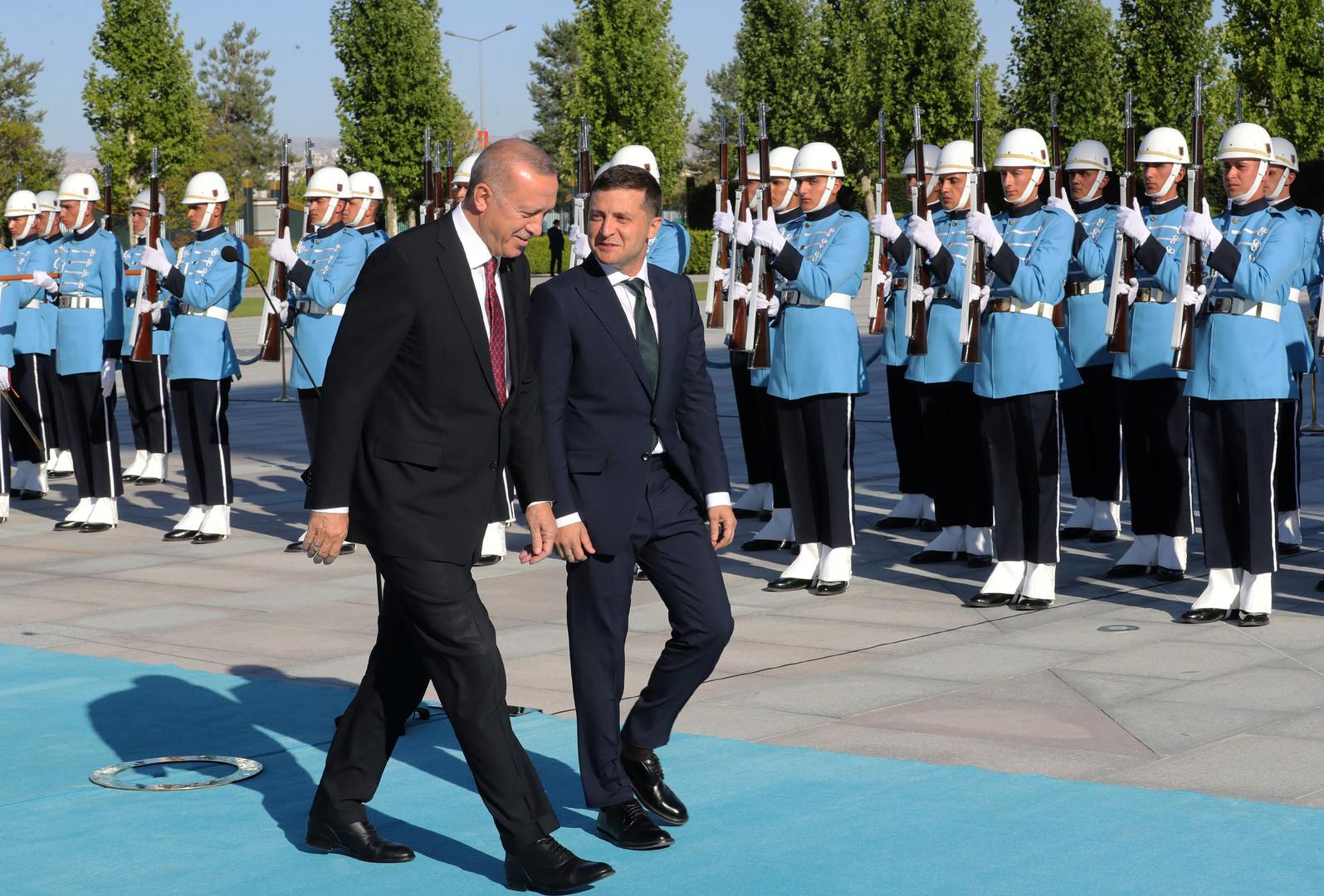 أردوغان وزيلينسكي يجريان محادثات في أنقرة