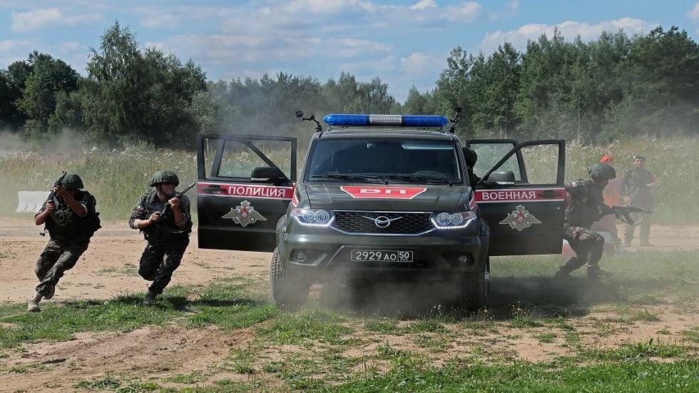 رجال الشرطة العسكرية الروسية يفوزون بسباق الدورية