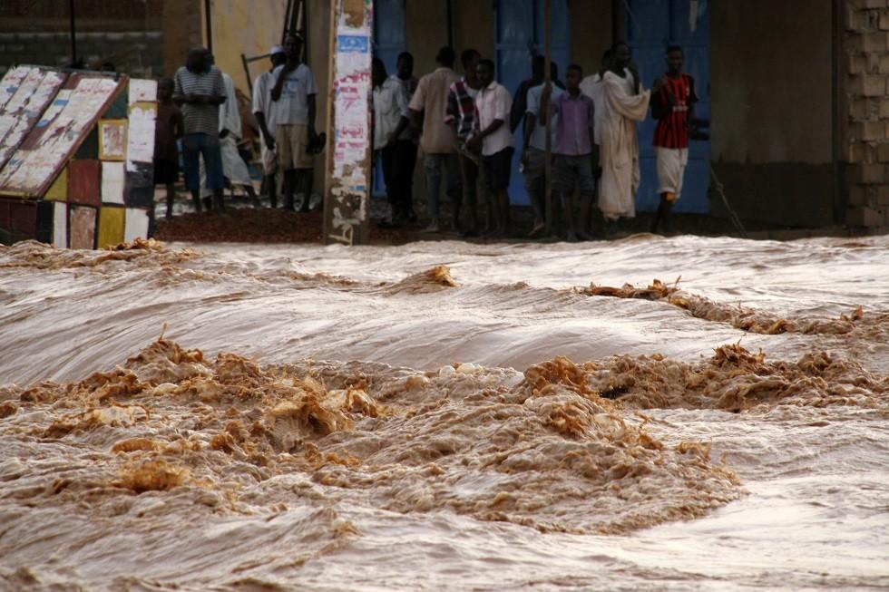 فيضانات في السودان - أرشيف -