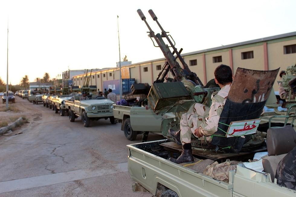 أرشيف - قوات تابعة لحكومة الوفاق، مصراتة، ليبيا 10 مايو 2019