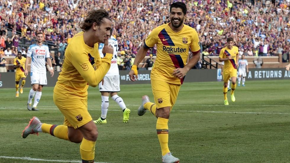شاهد.. برشلونة يدك شباك نابولي برباعية