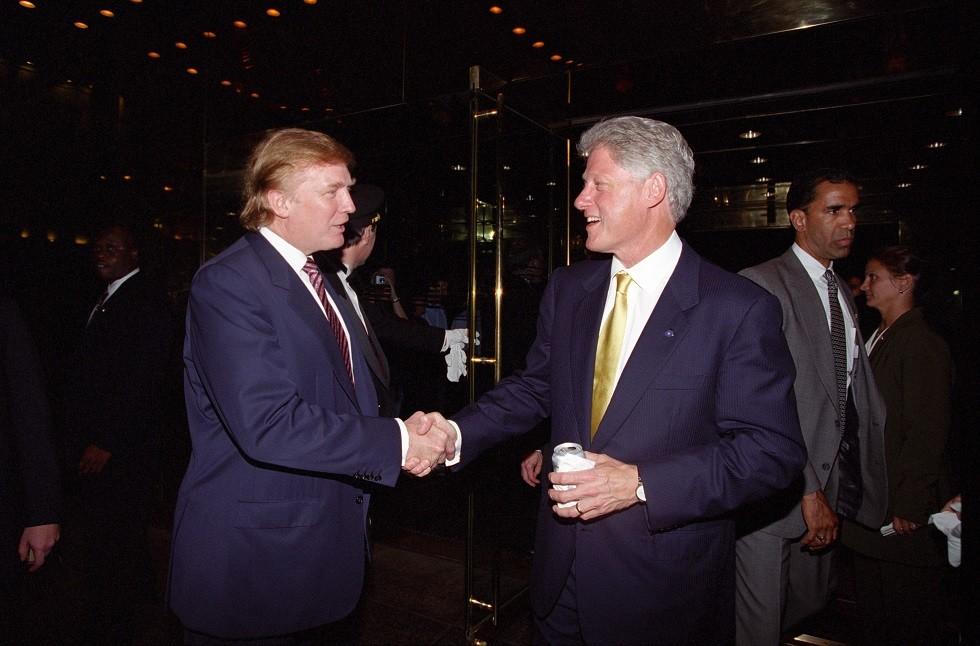 بيل كلينتون ودونالد ترامب