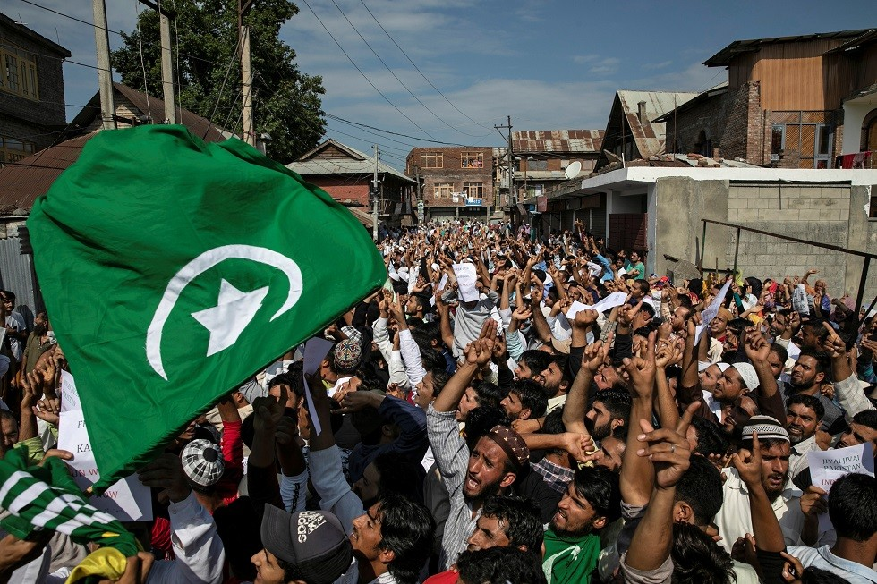 محتجون في إقليم كشمير