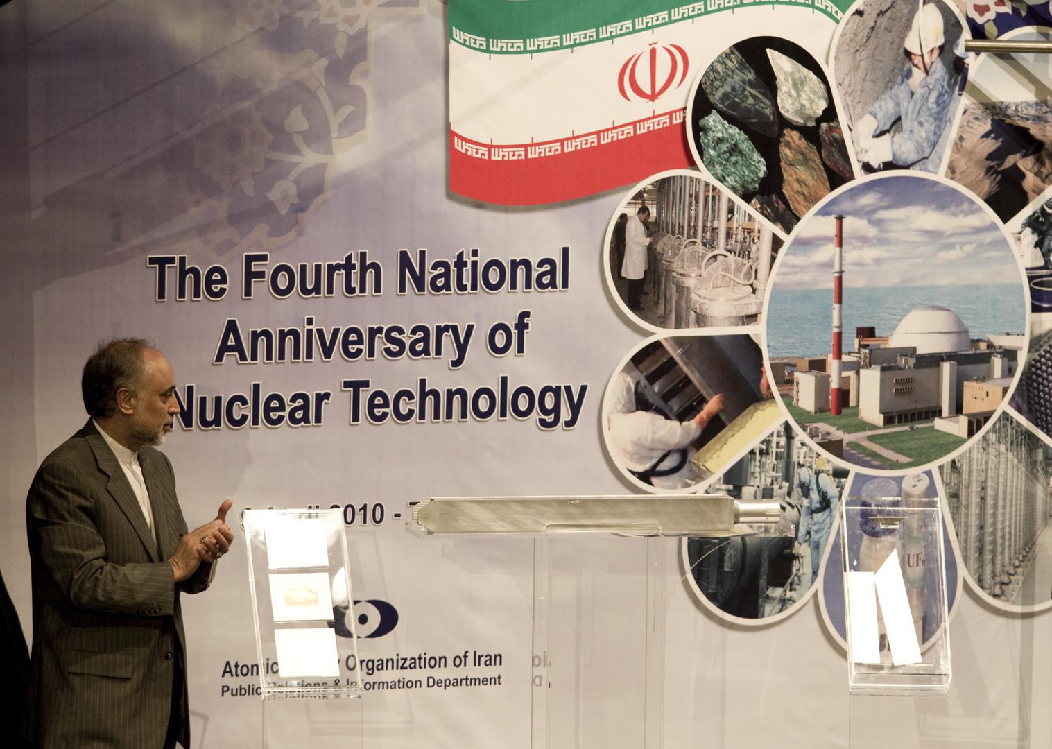 على أكبر صالحي يتحدث عن مفاعلات إيران النووية- صورة من الأرشيف