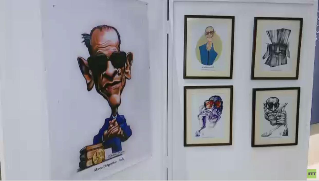 معرض كاريكاتير لأعمال نجيب محفوظ