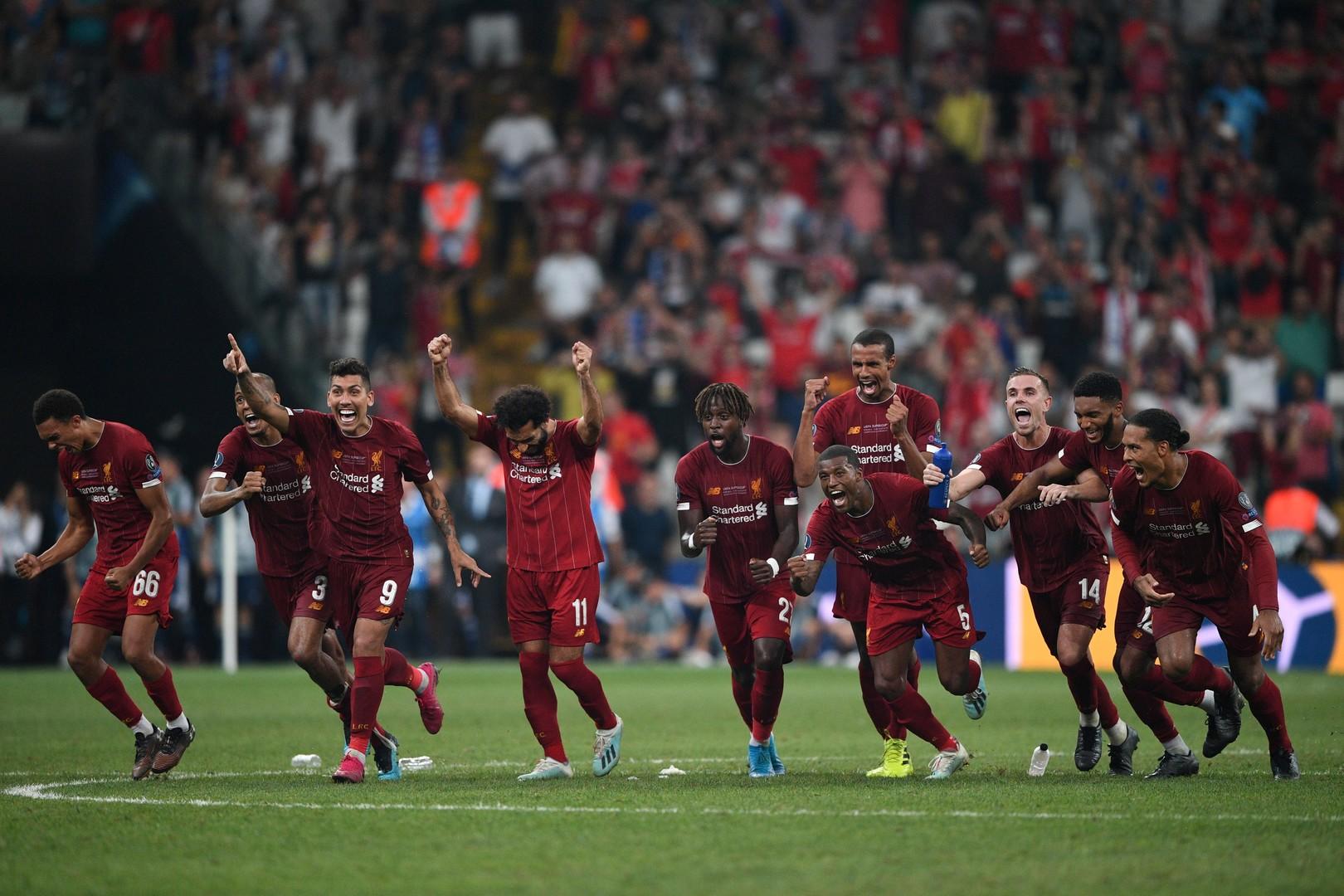 ليفربول يتوج بلقب كأس السوبر الأوروبي على حساب تشيلسي