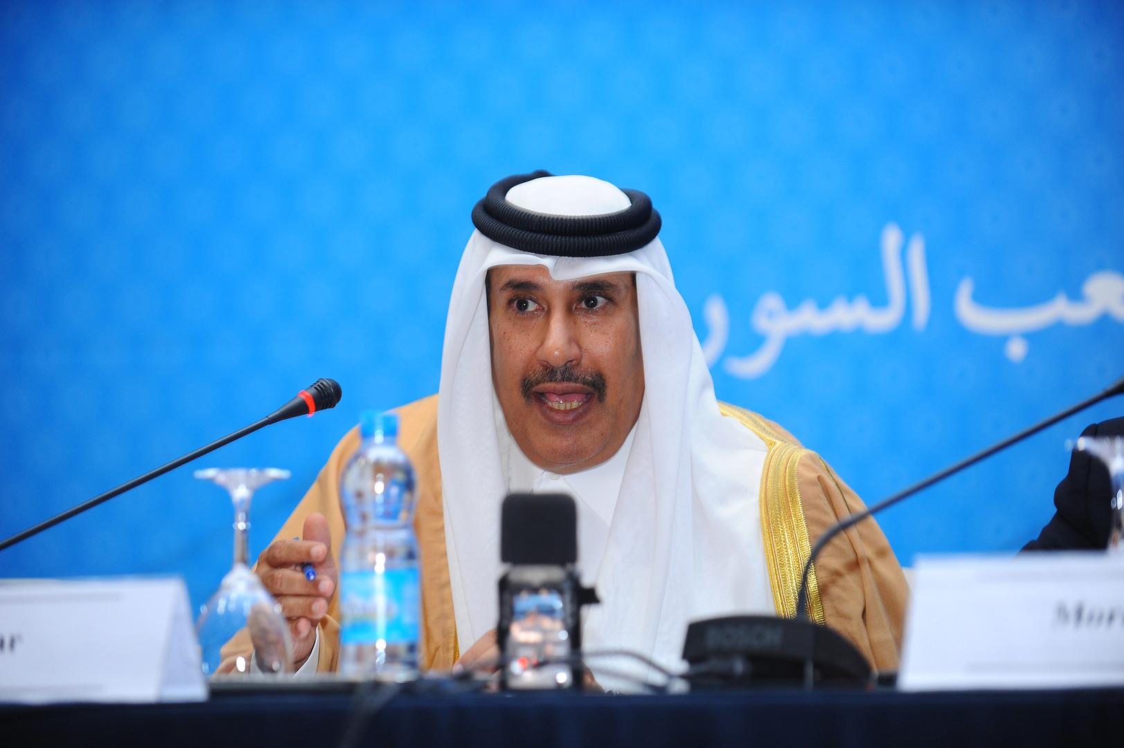 حمد بن جاسم يثير غضب المغردين السعوديين والإماراتيين بتغريدة عن