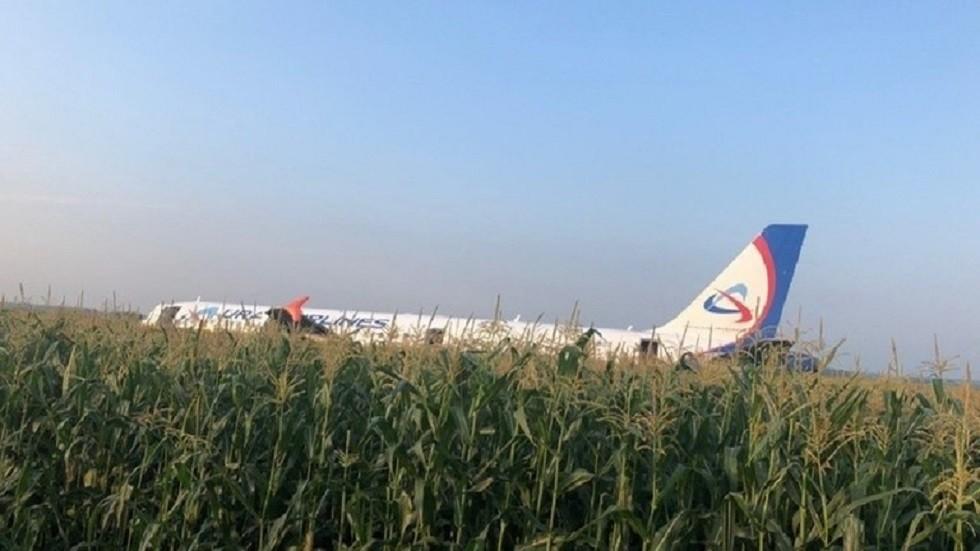 شاهد.. لحظة هبوط الطائرة الروسية بتصوير أحد الركاب!