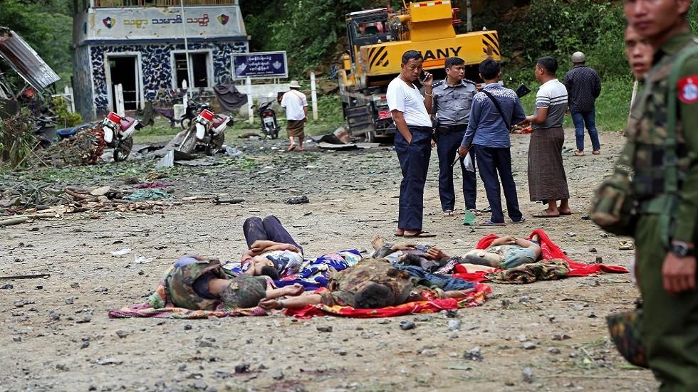 متمردو ميانمار يشنون هجمات غير مسبوقة على مقار عسكرية وأمنية