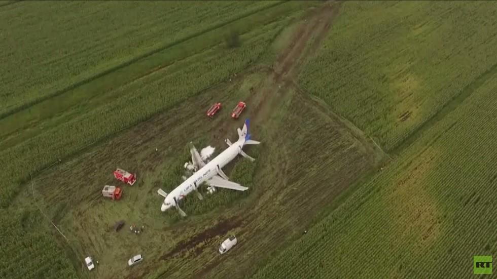 طائرة ركاب روسية تنجو من كارثة تحطم