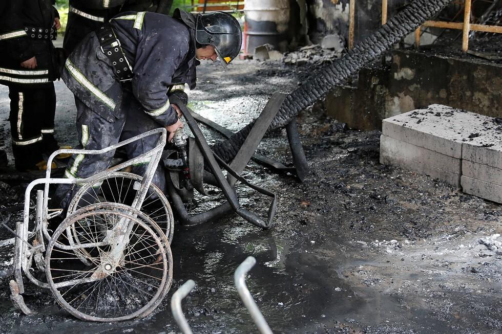 حريق سابق في أوديسا على البحر الأسود، أوكرانيا،11 يونيو 2019