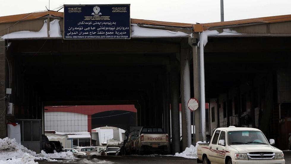 منفذ حدودي مع إيران في منطقة حاج عمران بكردستان العراق