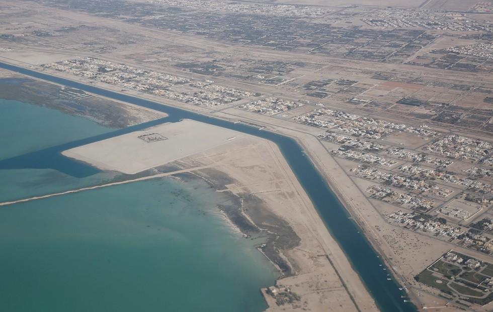 صورة جوية لمدينة أبو ظبي