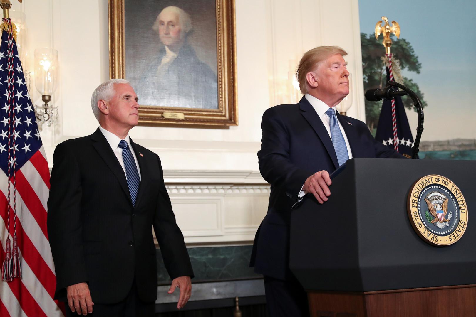 ترامبيتمسك بمايك بنس نائبا له في انتخابات 2020