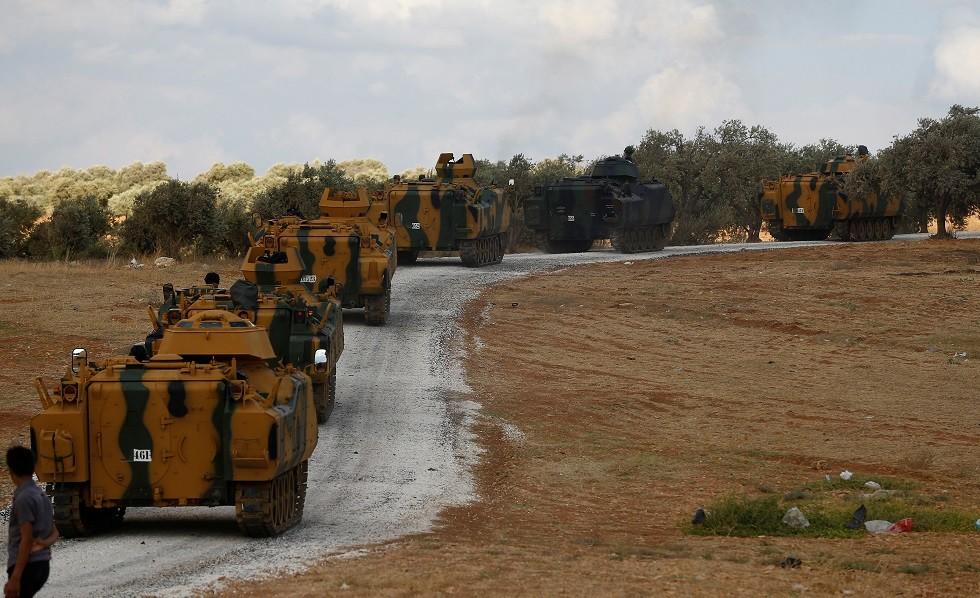 دمشق: آليات تركية تدخل باتجاه بلدة خان شيخون بريف إدلب لنجدة