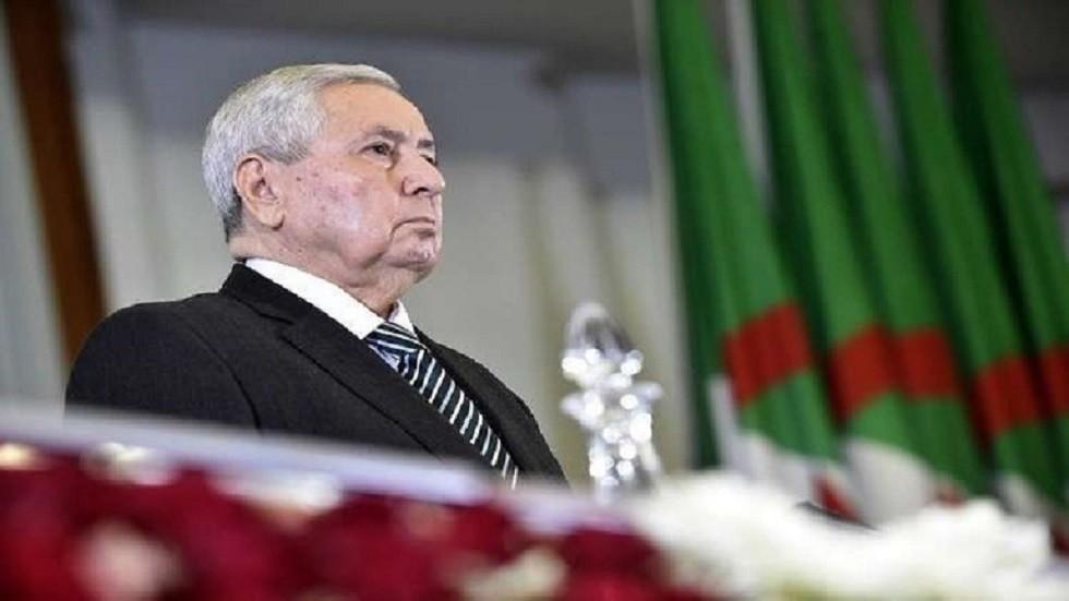الرئيس الجزائري المؤقت عبد القادر بن صالح (صورة أرشيفية)