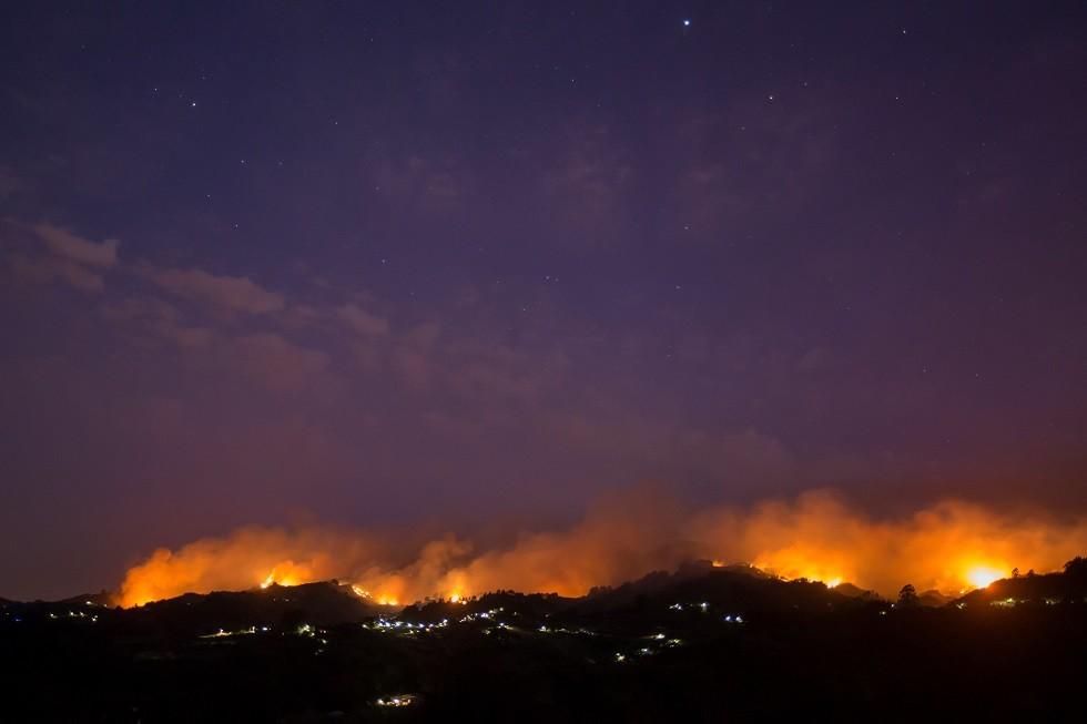 فرار 9 آلاف شخص من حريق غابات في جزر الكناري