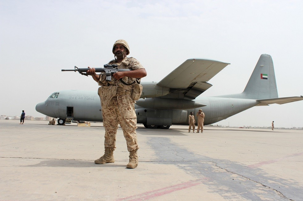 صورة ارشيفية لطائرة حربية اماراتية