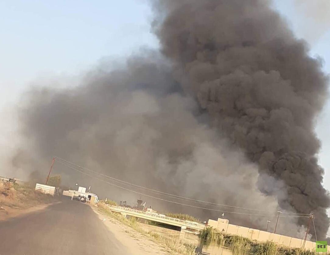 الدفاع المدني العراقي: انفجار كدس عتاد تابع لفصيل من الحشد الشعبي في محافظة صلاح الدين قرب قاعدة بلد
