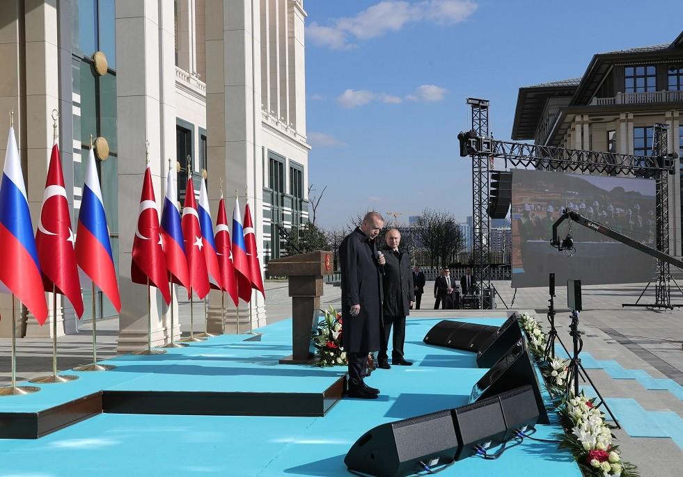 الرئيسان فلاديمير بوتين ورجب طيب أردوغان يعلنان بدء العمل في تشييد محطة أكويو الذرية