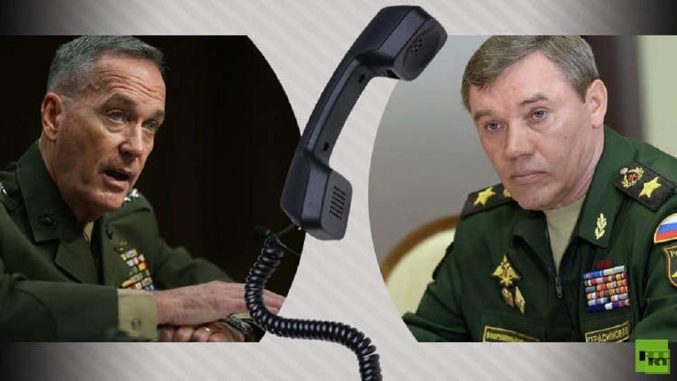 رئيس هيئة الأركان الروسية فاليري غيراسيموف ورئيس هيئة الأركان المشتركة للقوات المسلحة الأمريكية، جوزيف دانفورد