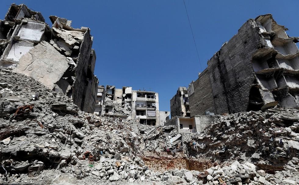 منظر من أحد أحياء حلب