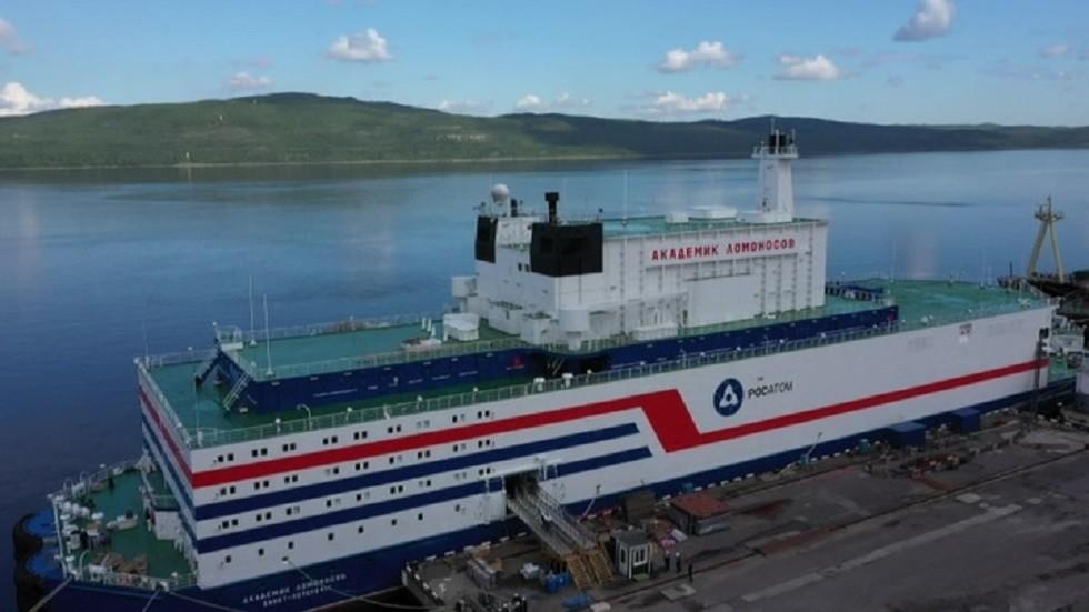 أول محطة ذرية روسية عائمة لتوليد الطاقة الكهربائية تبحر نحو تشوكوتكا