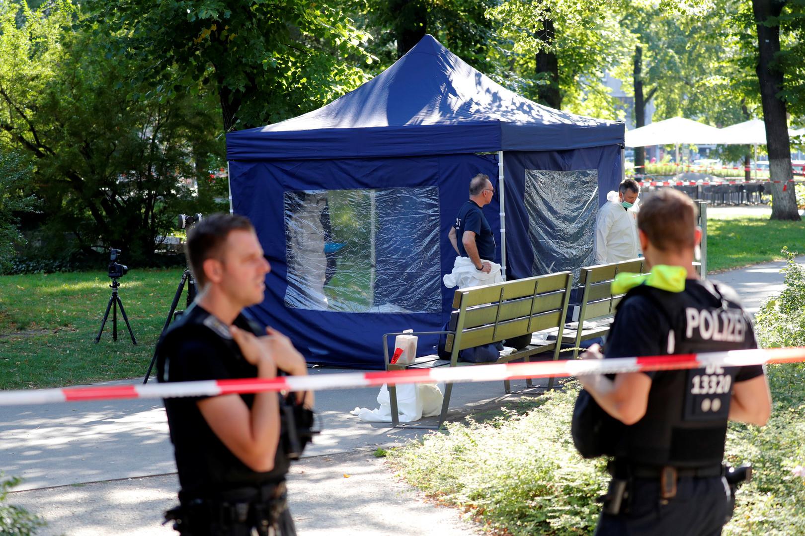 شرطيون في مكان جريمة القتل في برلين