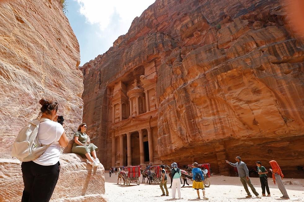 منطقة سياحية في البتراء الأردن