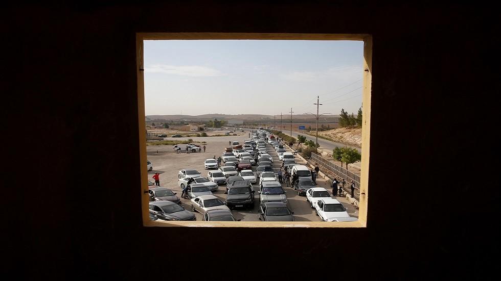 معبر جابر الحدودي بين الأردن وسوريا - أرشيف -