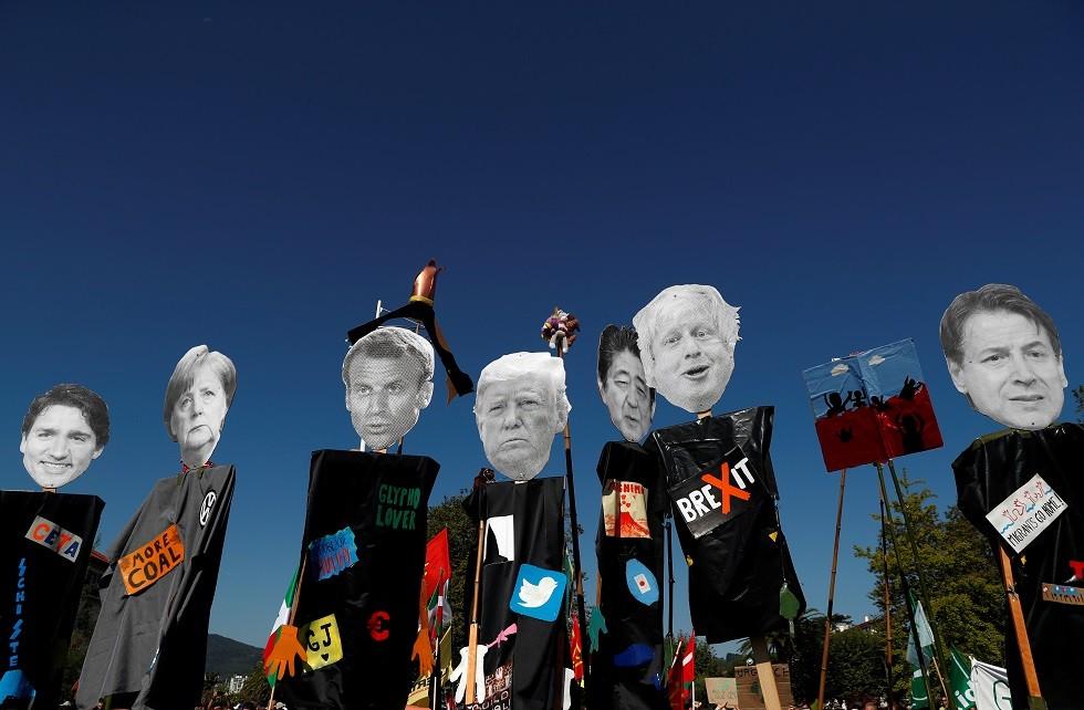 احتجاجات ضد قمة G7، هينداي، فرنسا ، 24 أغسطس 2019