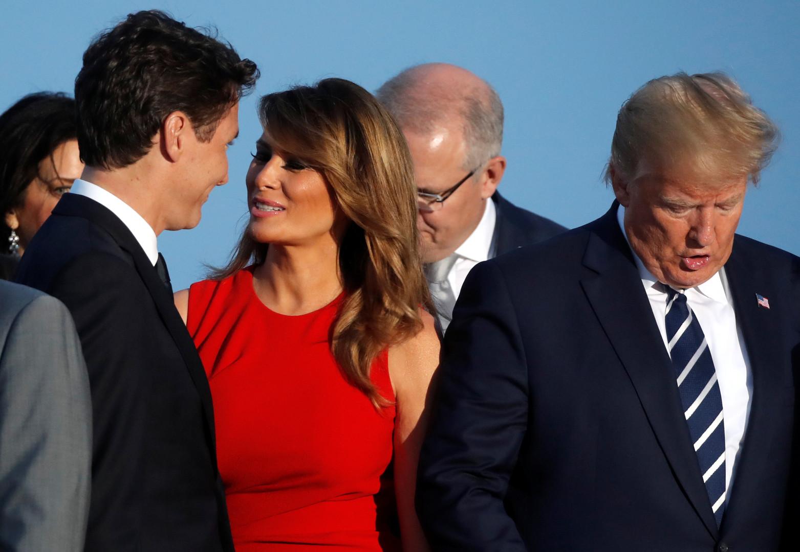 ميلانيا مع ترودو وترامب مع زوجة ماكرون.. تبادل القبلات يخطف اهتمام الإعلام في قمة