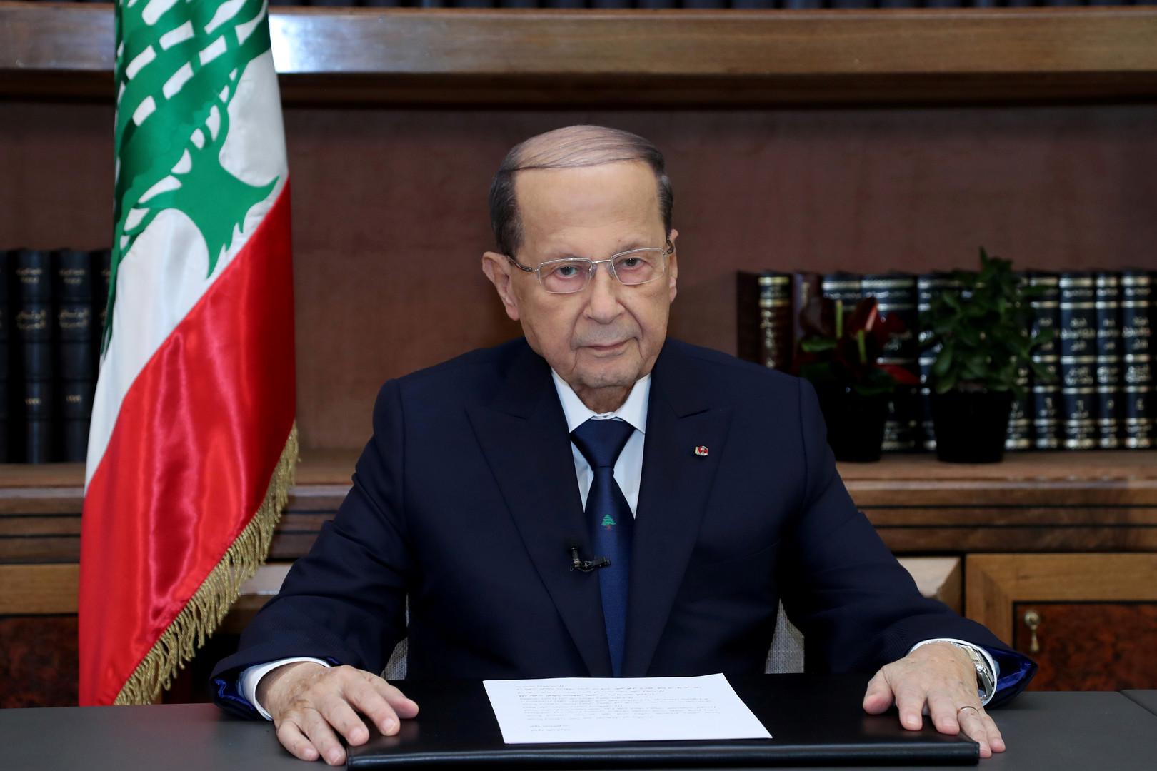 الرئيس اللبناني: علينا العودة لحمل شعار فلسطين لإنقاذها من صفقة القرن
