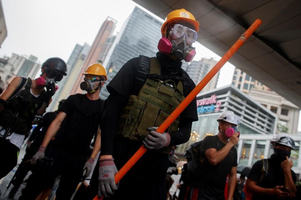 متظاهرون في هونغ كونغ، الصين، 25 أغسطس 2019