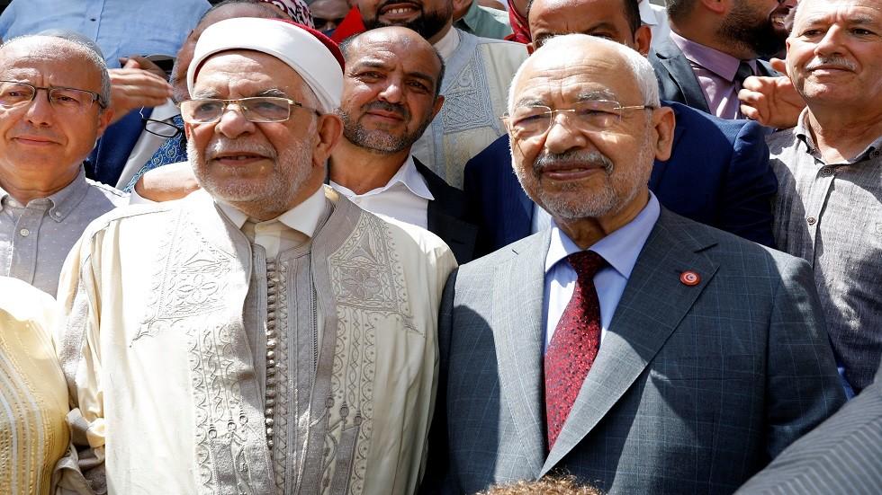 زعيم حزب النهضة راشد الغنوشي ونائبه عبد الفتاح مورو - أرشيف