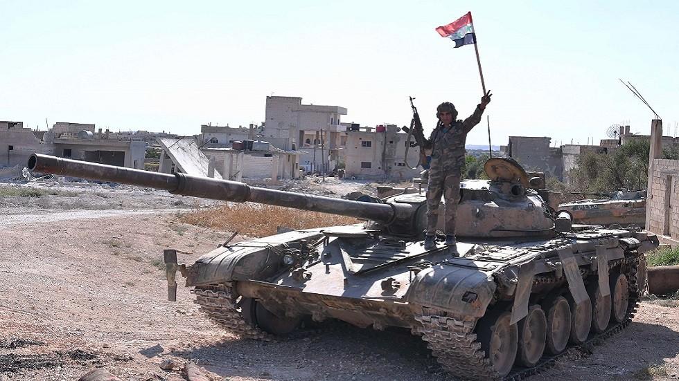 الجيش السوري في خان شيخون بإدلب