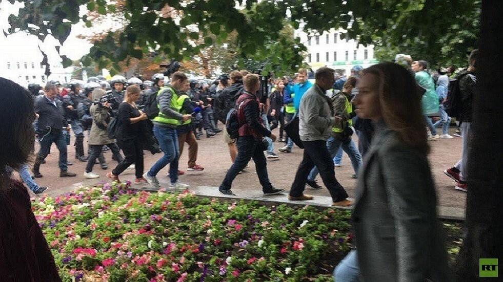 مظاهرة لأنصار المعارضة في موسكو - أرشيف