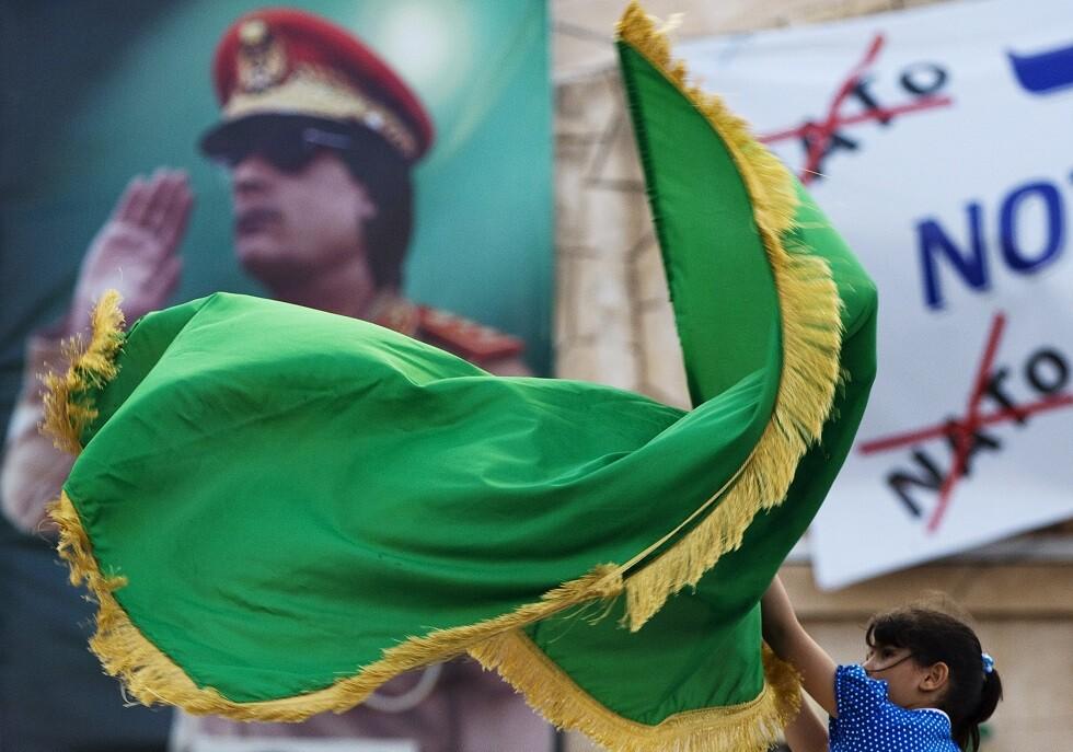 شاهد.. احتفالات بعلم ليبيا السابق في الذكرى الـ 50 لتولي القذافي الحكم