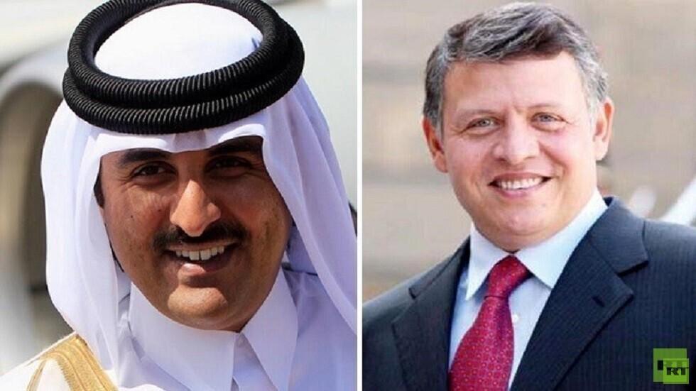 العاهل الأردني يبحث مع أمير قطر العلاقات بين عمان والدوحة