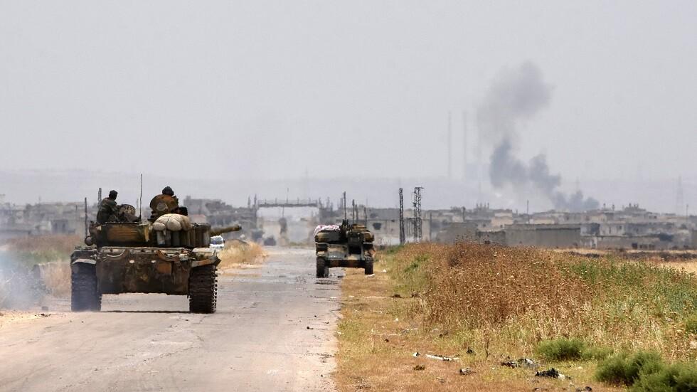 القوات السورية تتقدم باتجاه إحدى بلدات ريف حماة - أرشيف