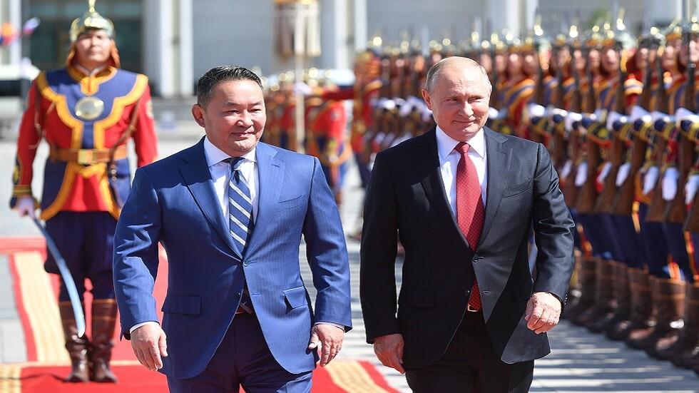 بوتين يزور منغوليا ويصف علاقات روسيا معها بالأخوية