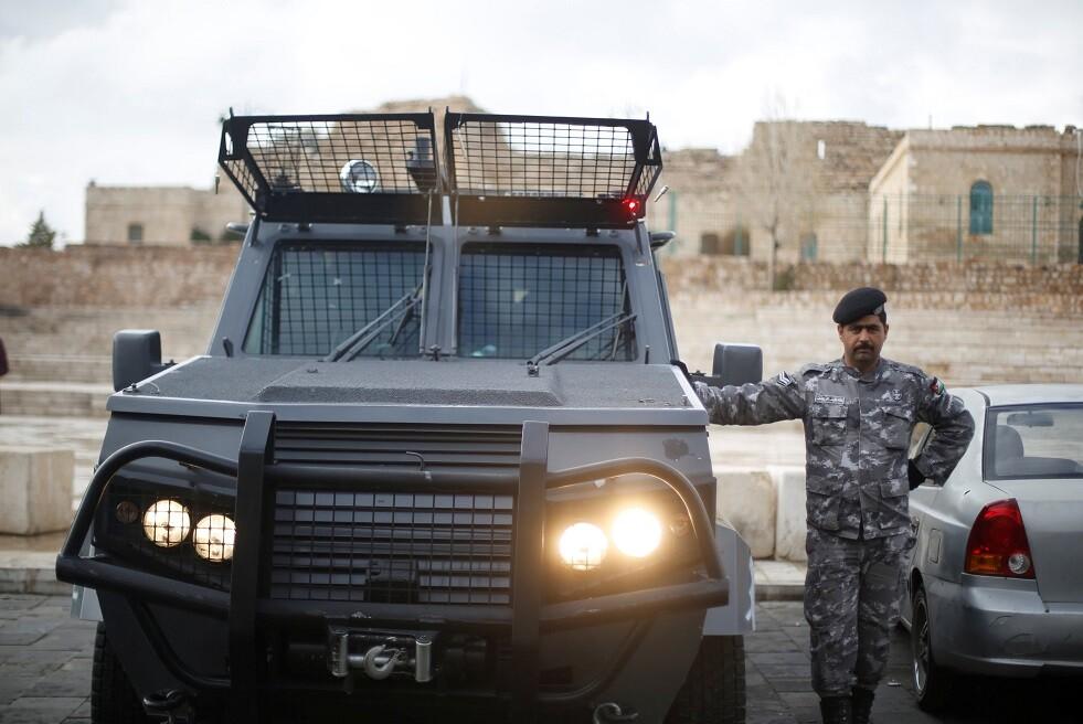 رجل شرطة أردني في الكرك - أرشيف