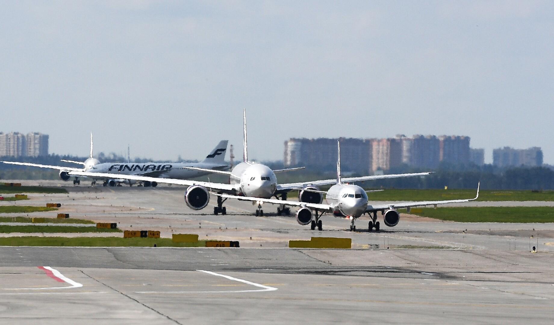 اصطدام طائرتين في مطار شيريميتيفو بضواحي موسكو