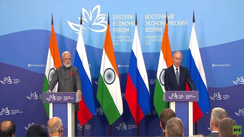 اتفاقيات بين روسيا والهند لتعزيز التعاون