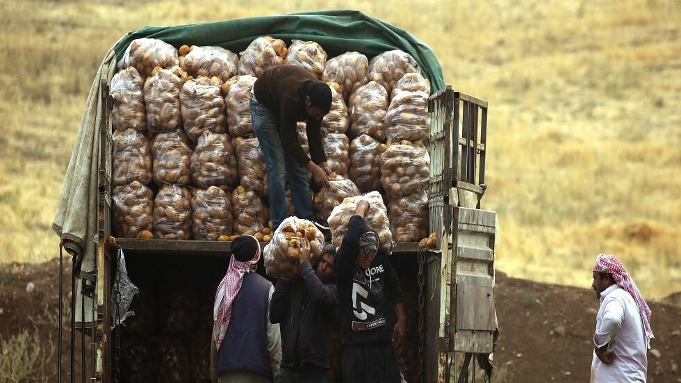 شاحنة محملة بمادة البطاطا - أرشيف